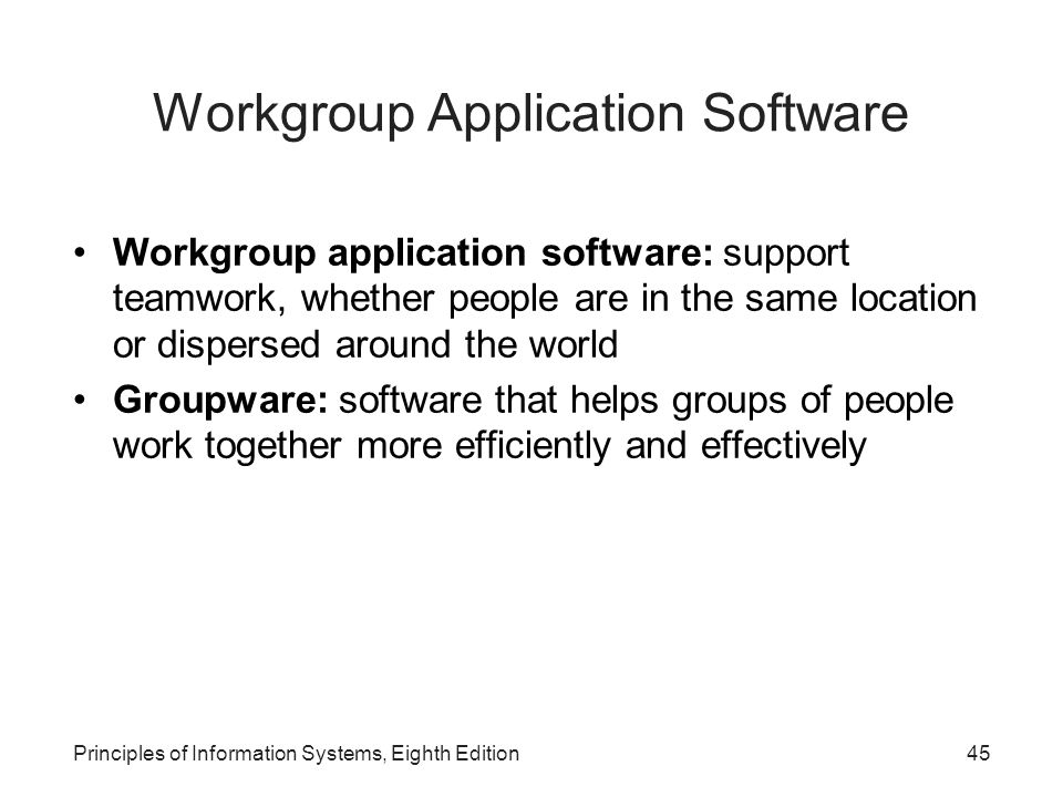 Workgroup Application Software