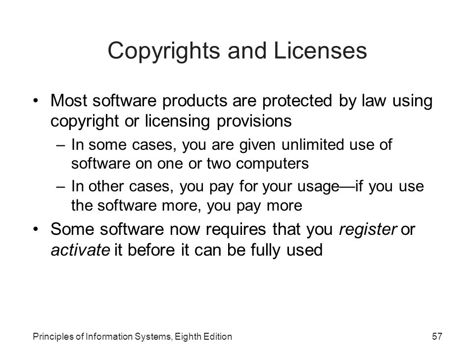 Copyrights and Licenses