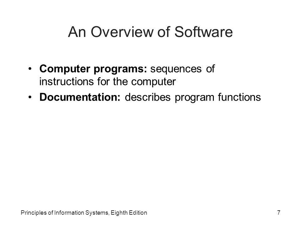 An Overview of Software