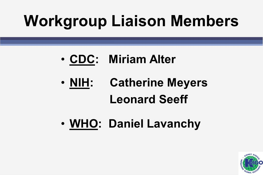 Workgroup Liaison Members