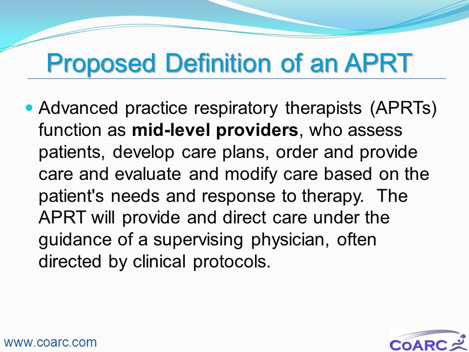 Proposed Definition of an APRT