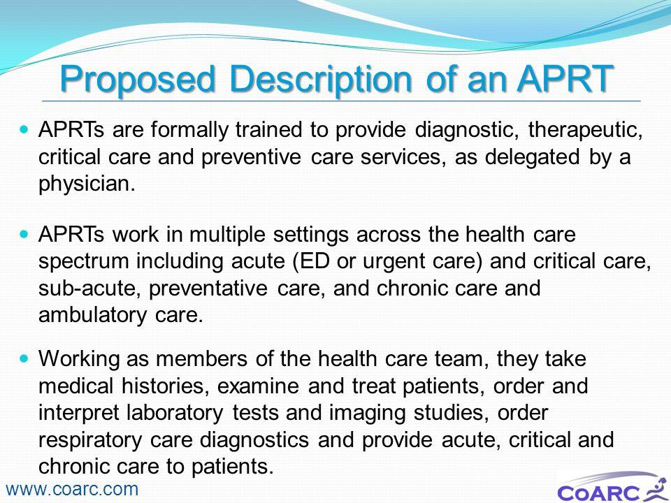 Proposed Description of an APRT