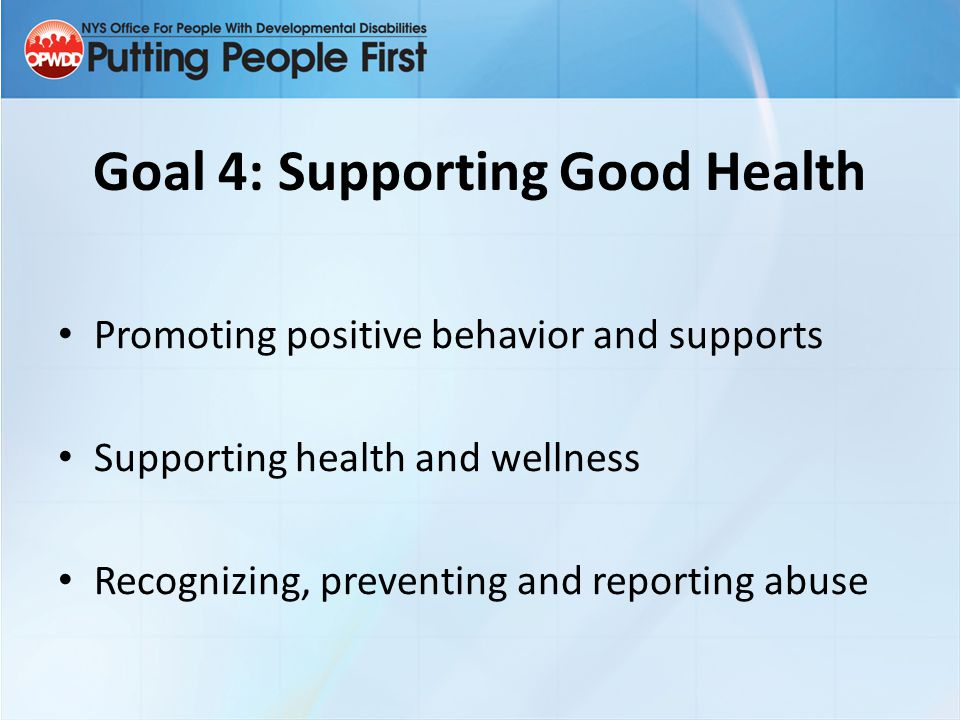 Goal 4: Supporting Good Health