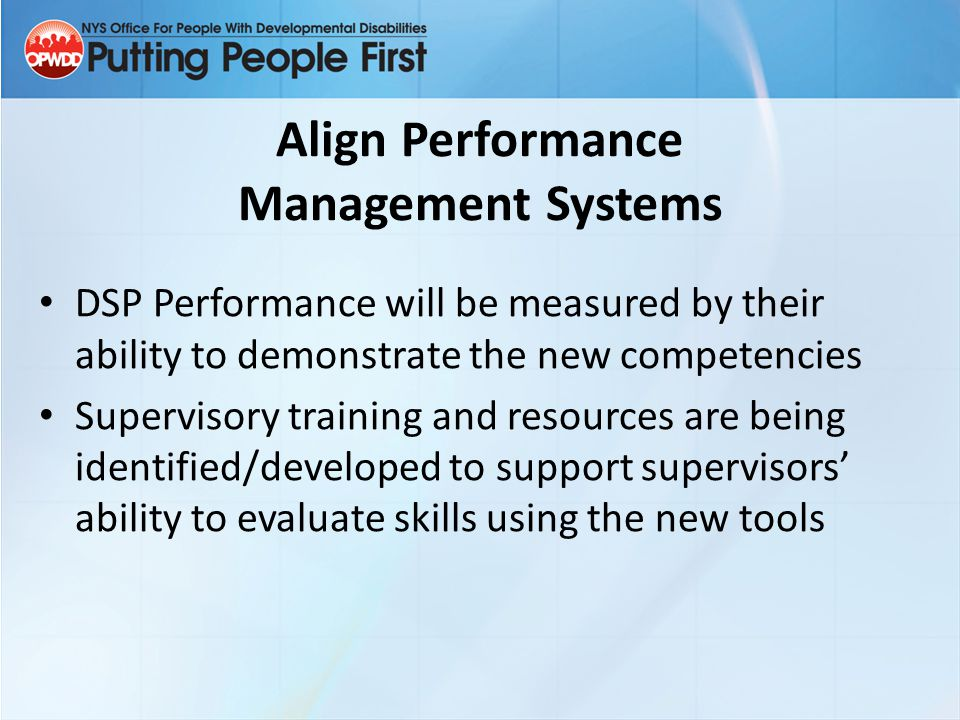 Align Performance Management Systems