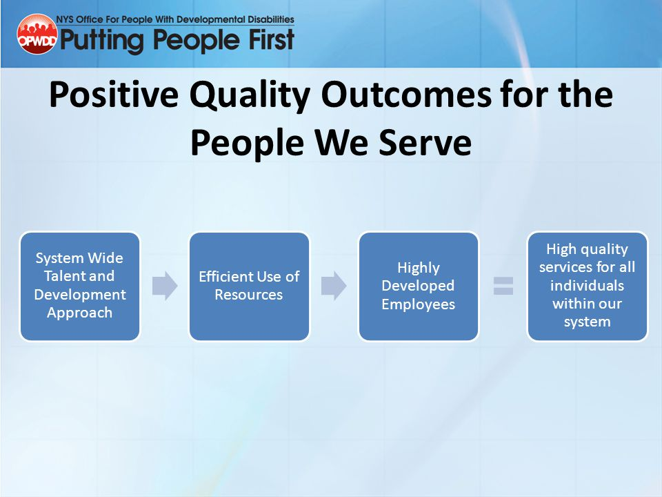 Positive Quality Outcomes for the People We Serve