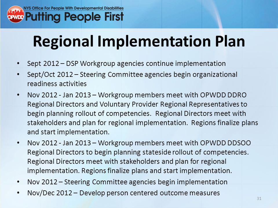 Regional Implementation Plan