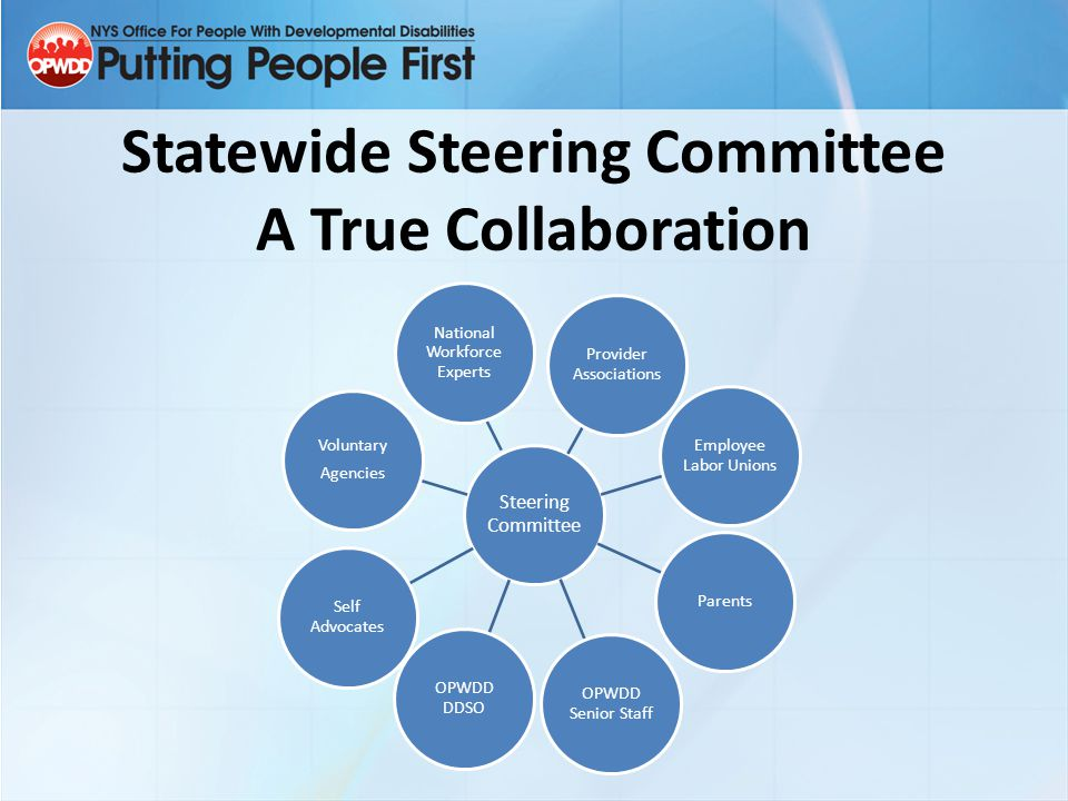 Statewide Steering Committee A True Collaboration