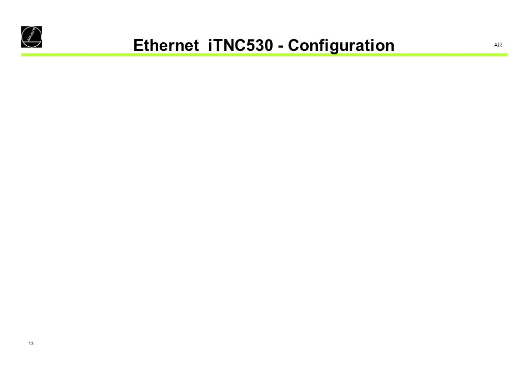 Ethernet iTNC530 - Configuration