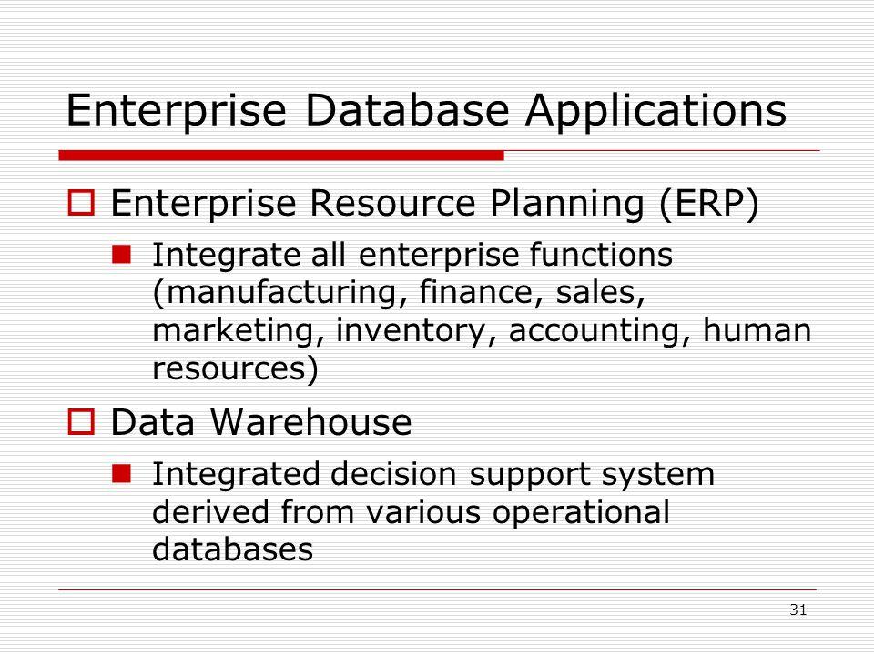 Enterprise Database Applications