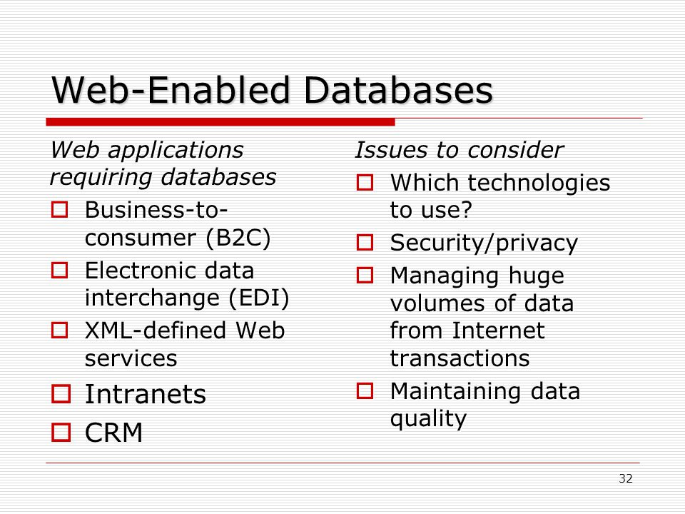 Web-Enabled Databases
