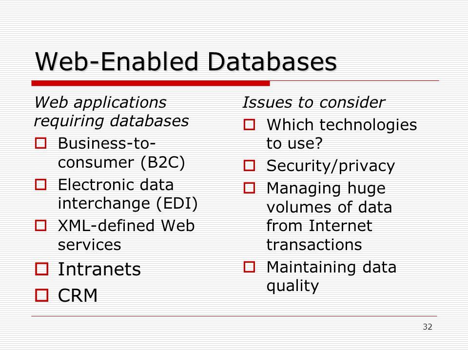 Web-Enabled Databases