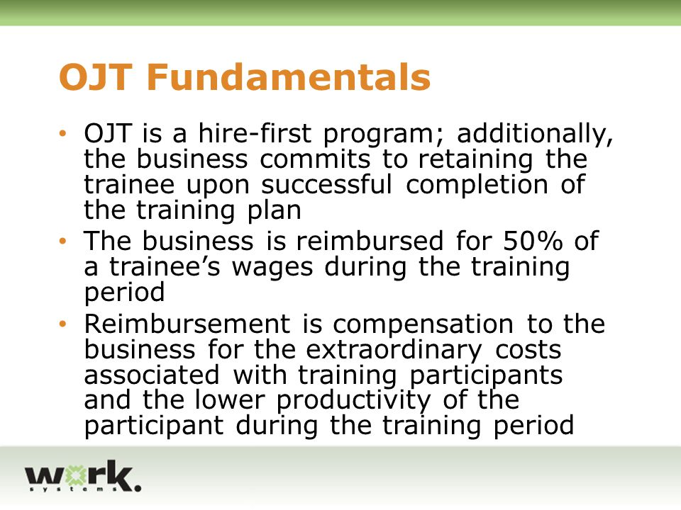 OJT Fundamentals