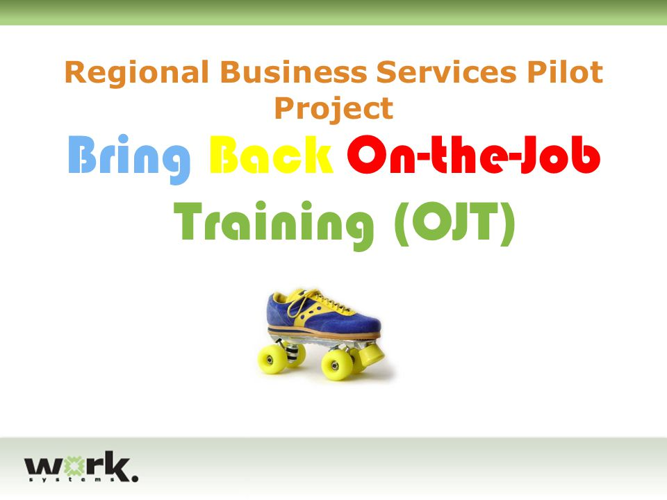 Regional Business Services Pilot Project