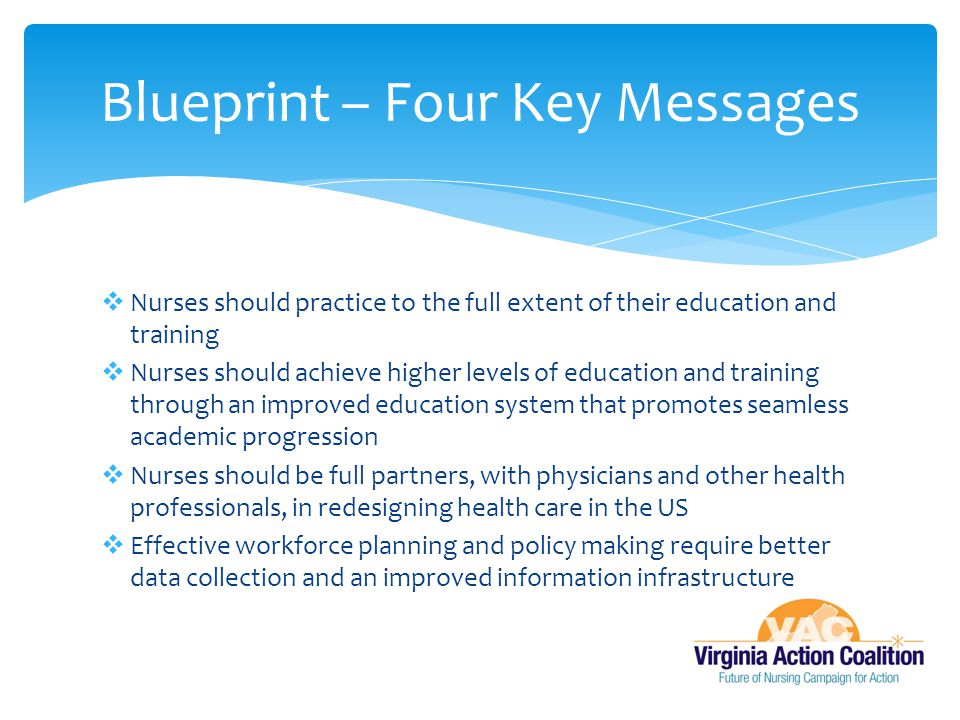 Blueprint – Four Key Messages