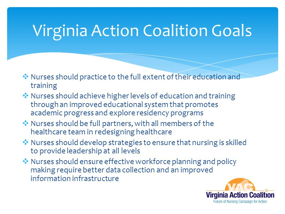 Virginia Action Coalition Goals