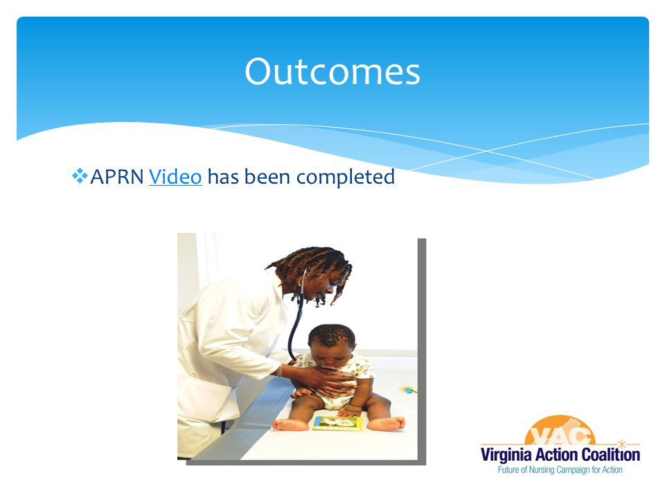 Outcomes APRN Video has been completed