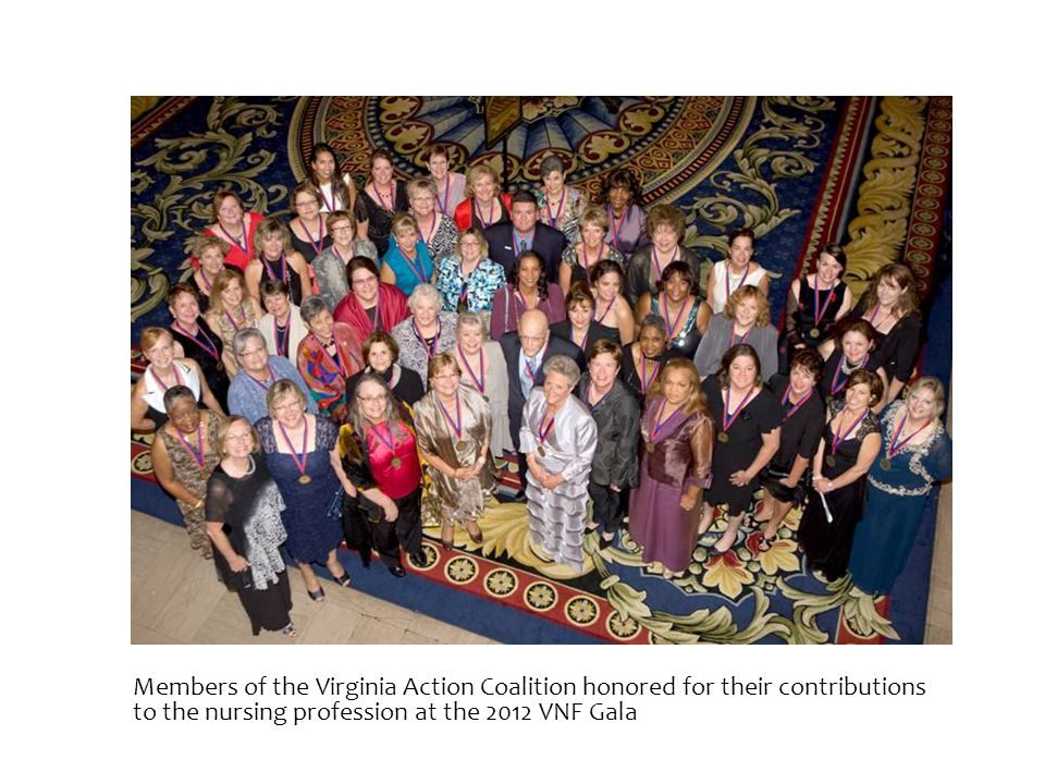 Members of the Virginia Action Coalition honored for their contributions to the nursing profession at the 2012 VNF Gala