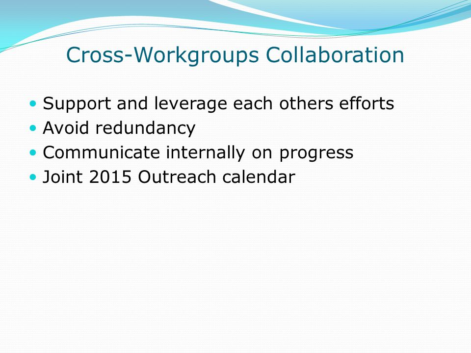 Cross-Workgroups Collaboration