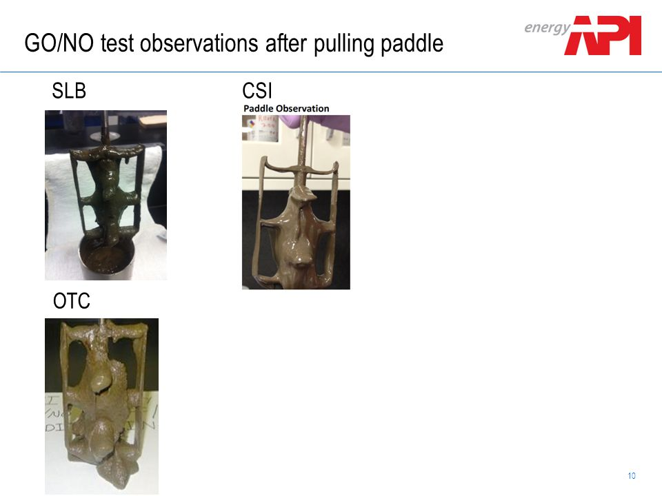GO/NO test observations after pulling paddle