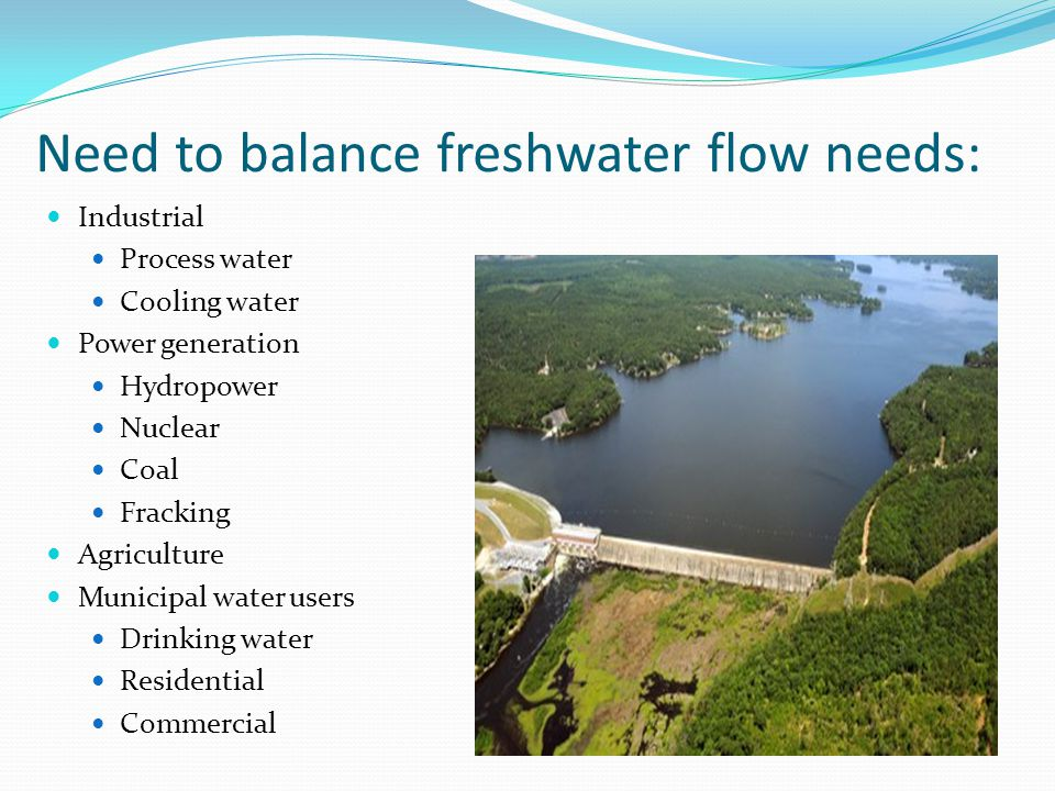 Need to balance freshwater flow needs: