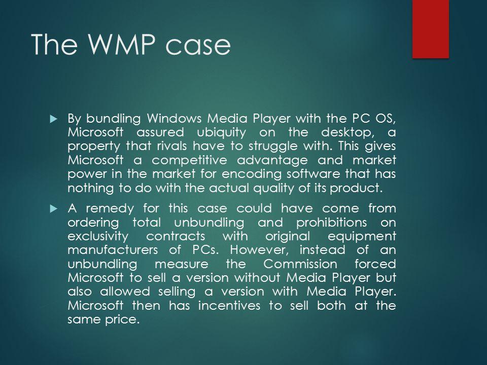 The WMP case