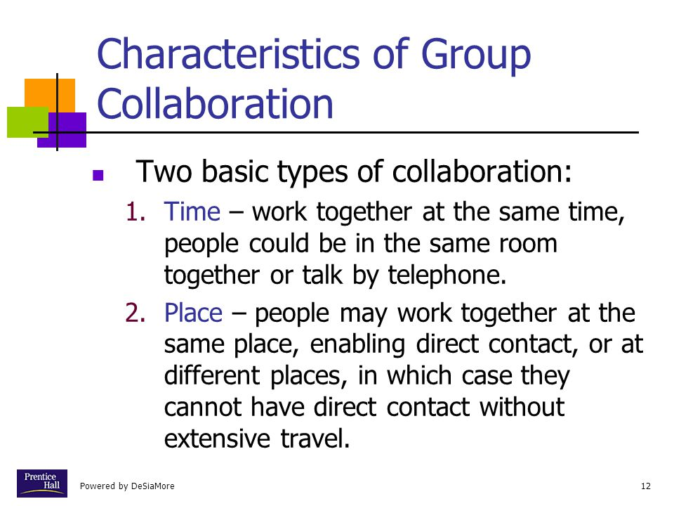 Characteristics of Group Collaboration