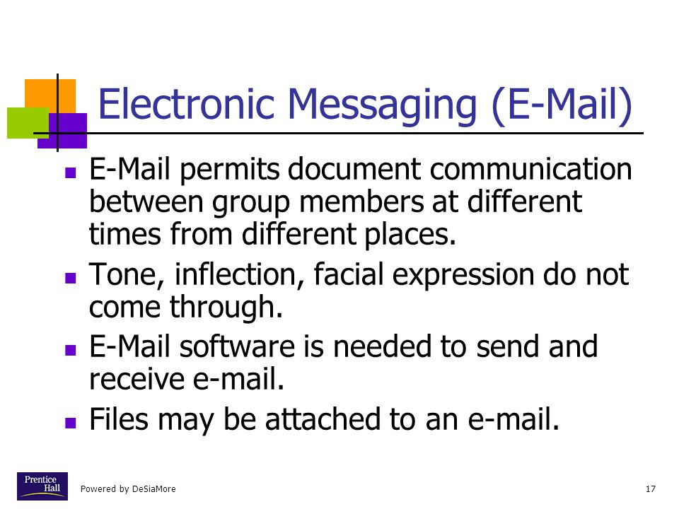 Electronic Messaging (E-Mail)