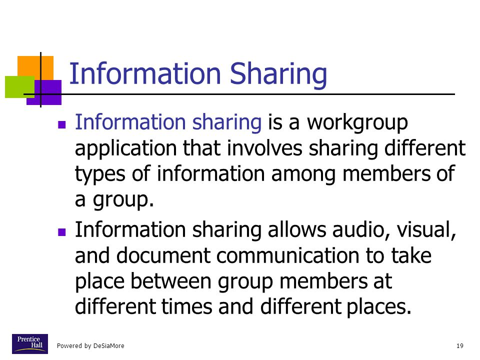Chapter Information Sharing.