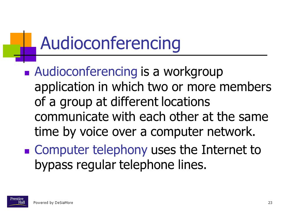 Chapter Audioconferencing.