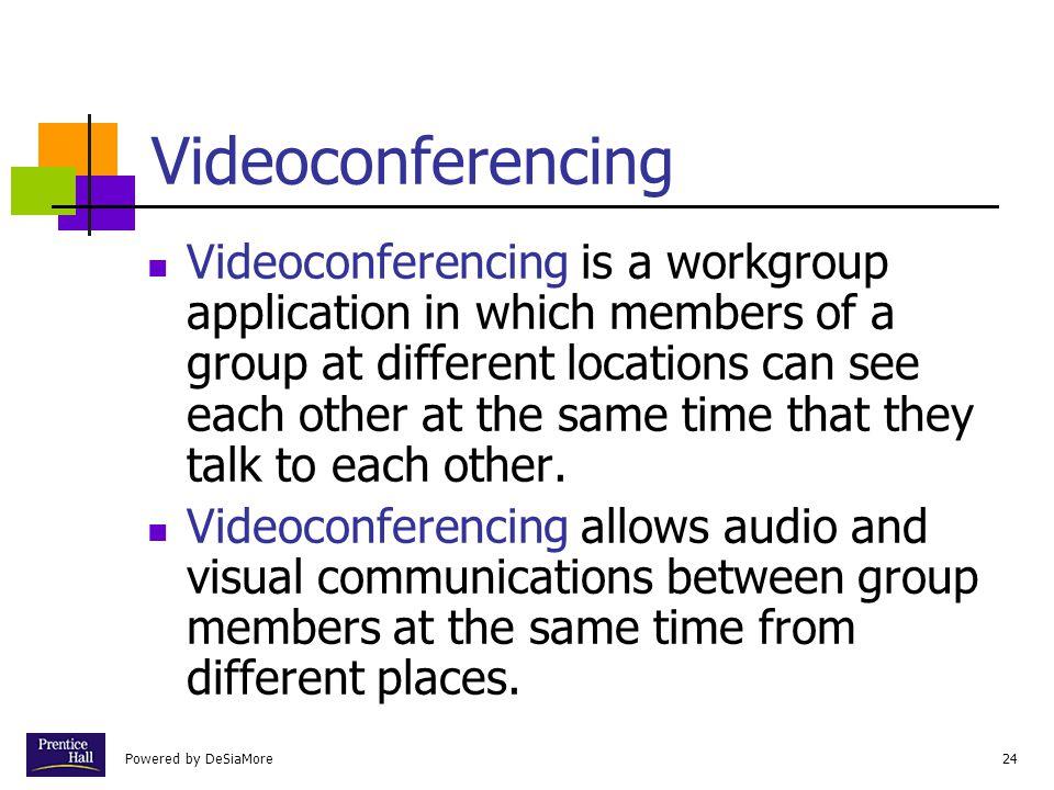 Chapter Videoconferencing.