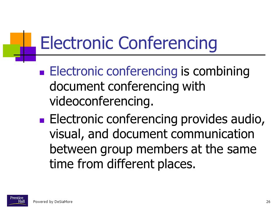 Electronic Conferencing