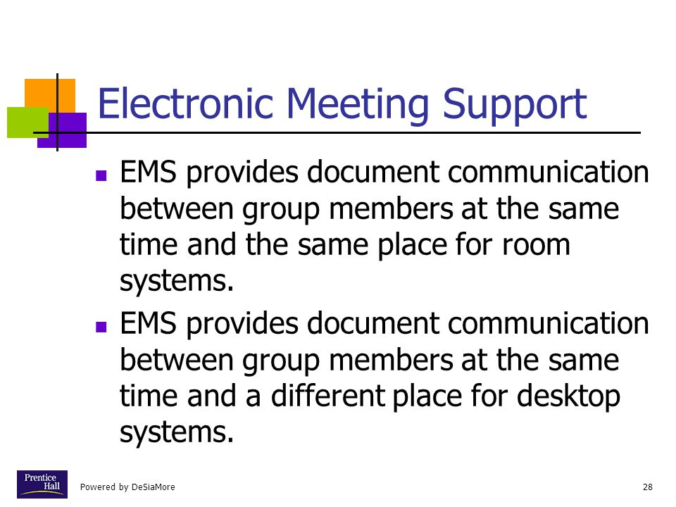 Electronic Meeting Support