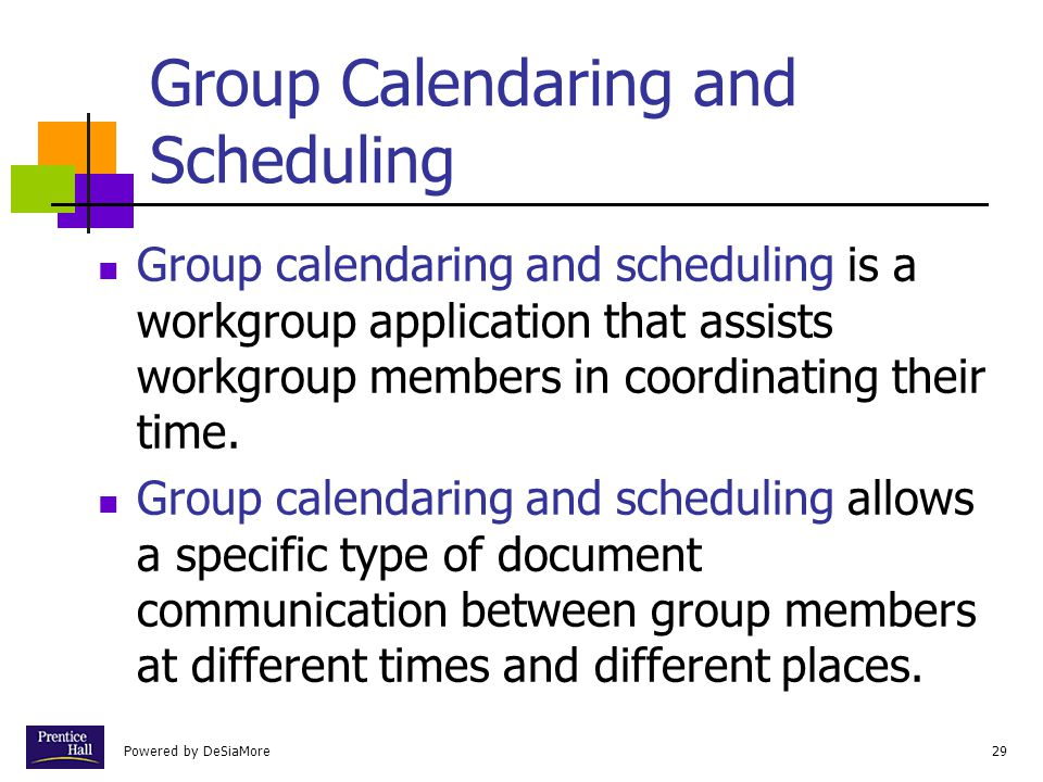 Group Calendaring and Scheduling
