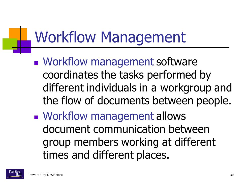 Chapter Workflow Management.