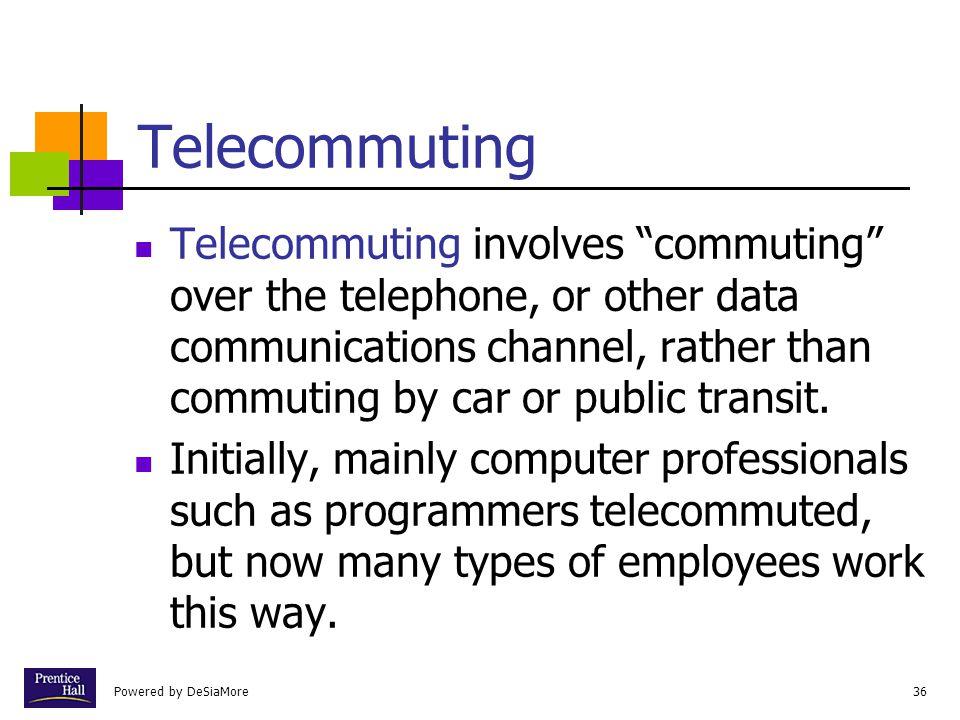 Chapter Telecommuting.