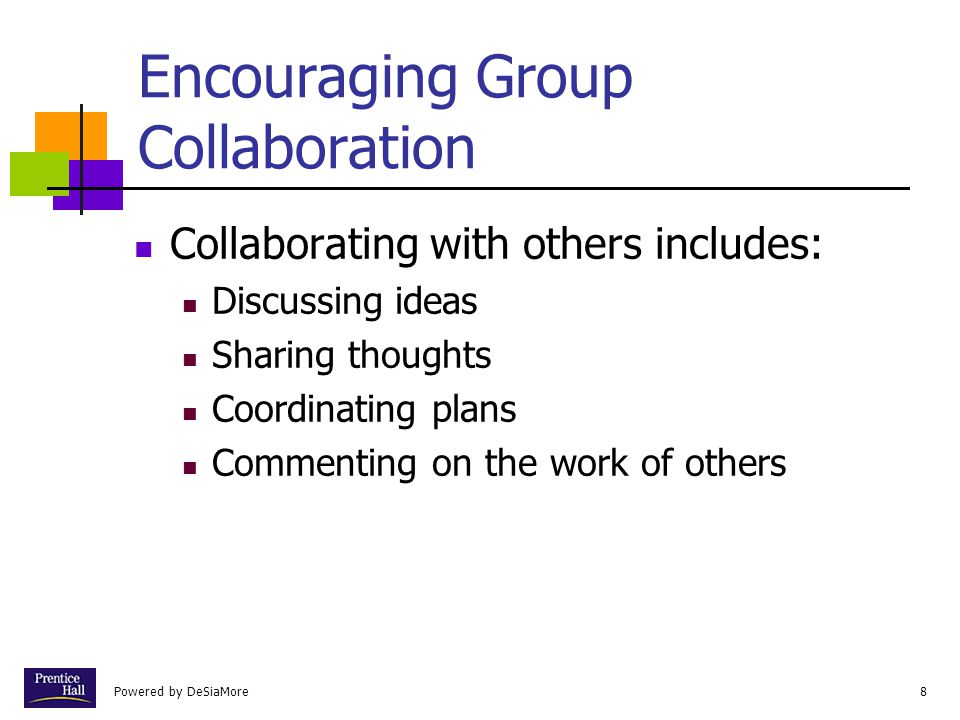 Encouraging Group Collaboration