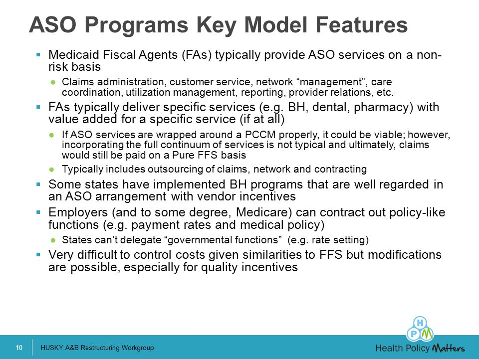 ASO Programs Key Model Features