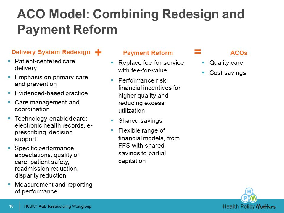 ACO Model: Combining Redesign and Payment Reform