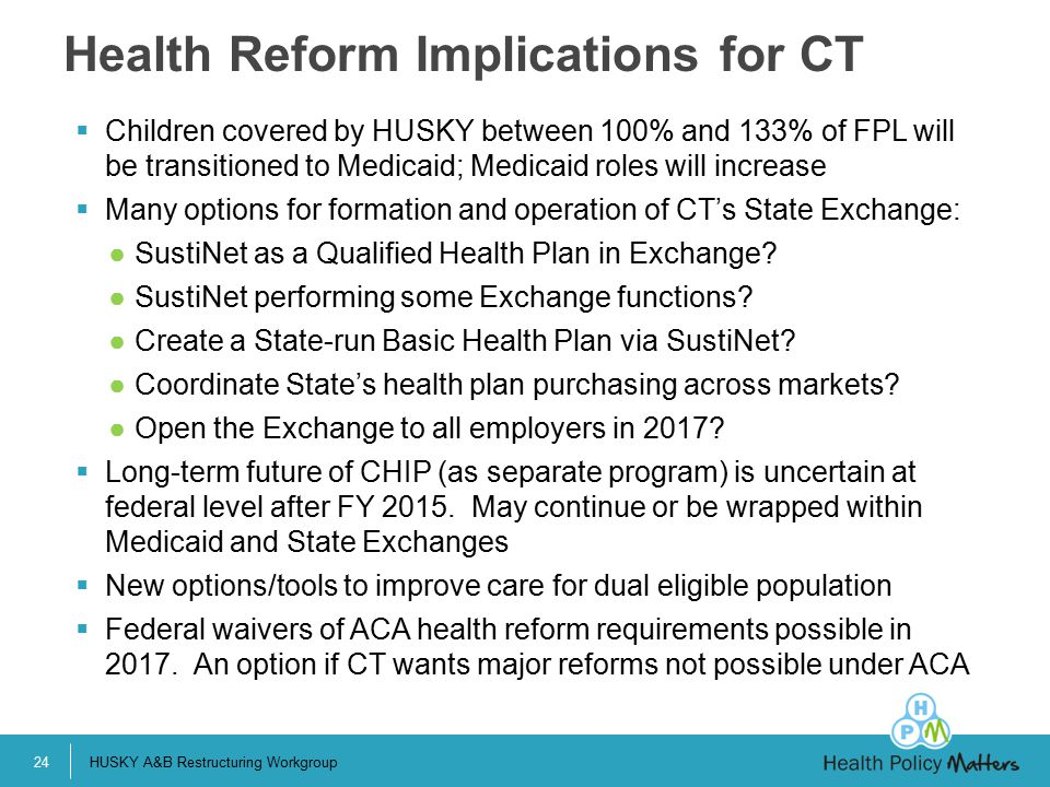 Health Reform Implications for CT