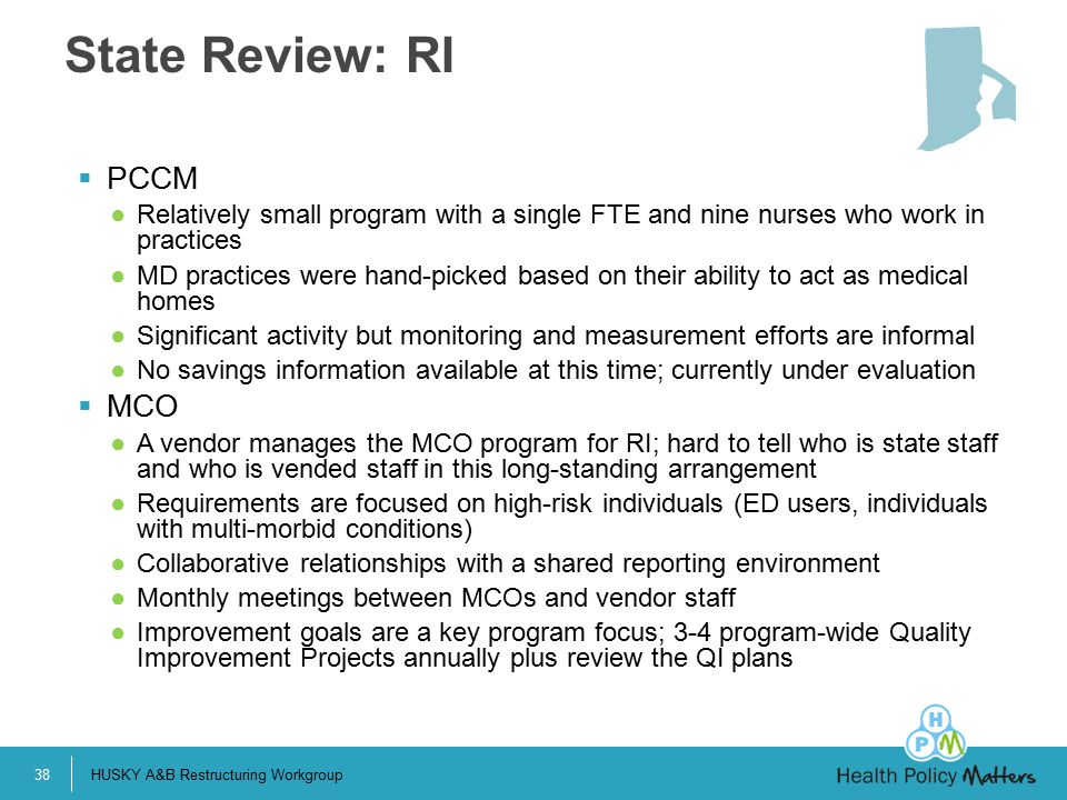 State Review: RI PCCM MCO