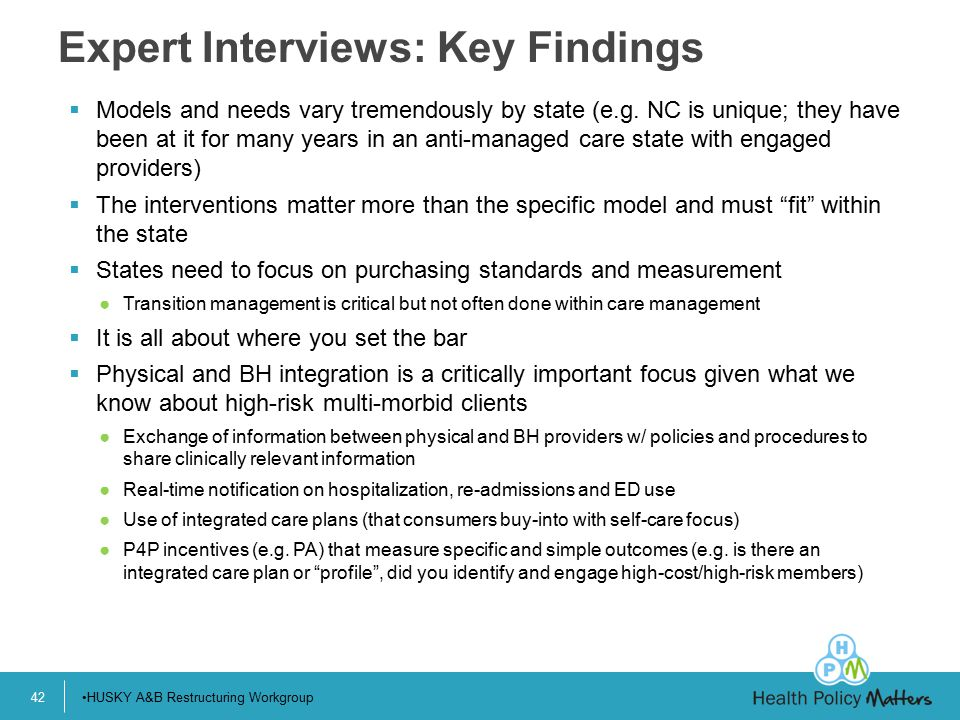Expert Interviews: Key Findings