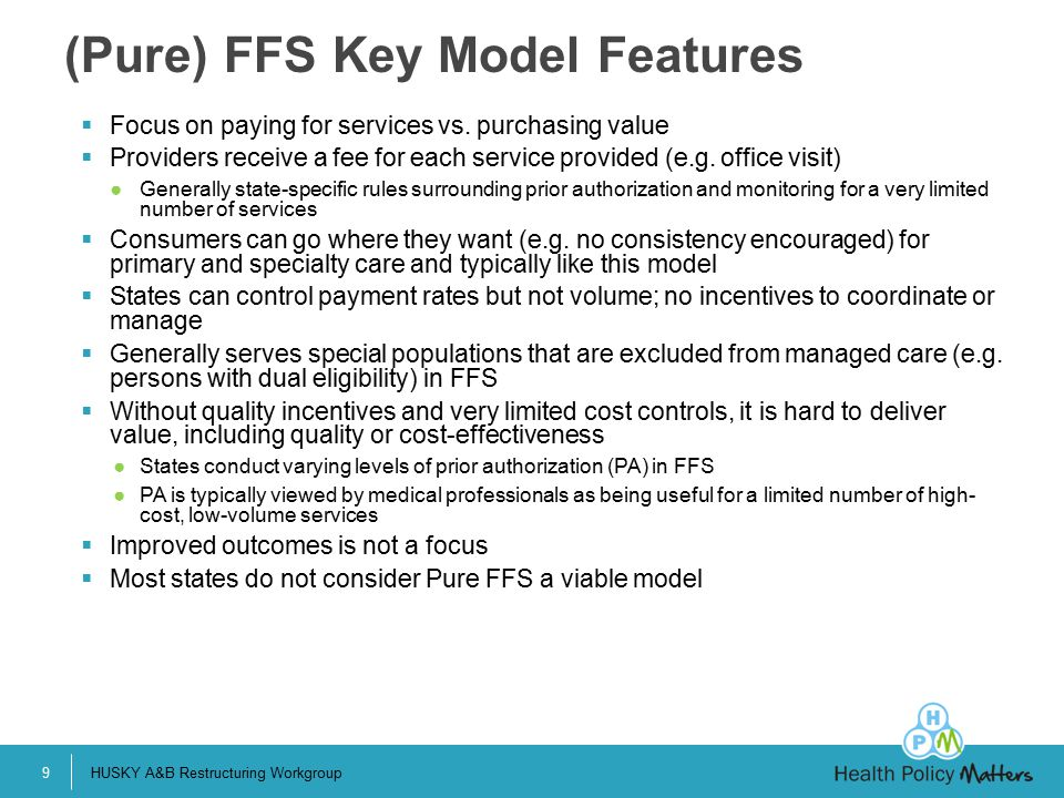(Pure) FFS Key Model Features