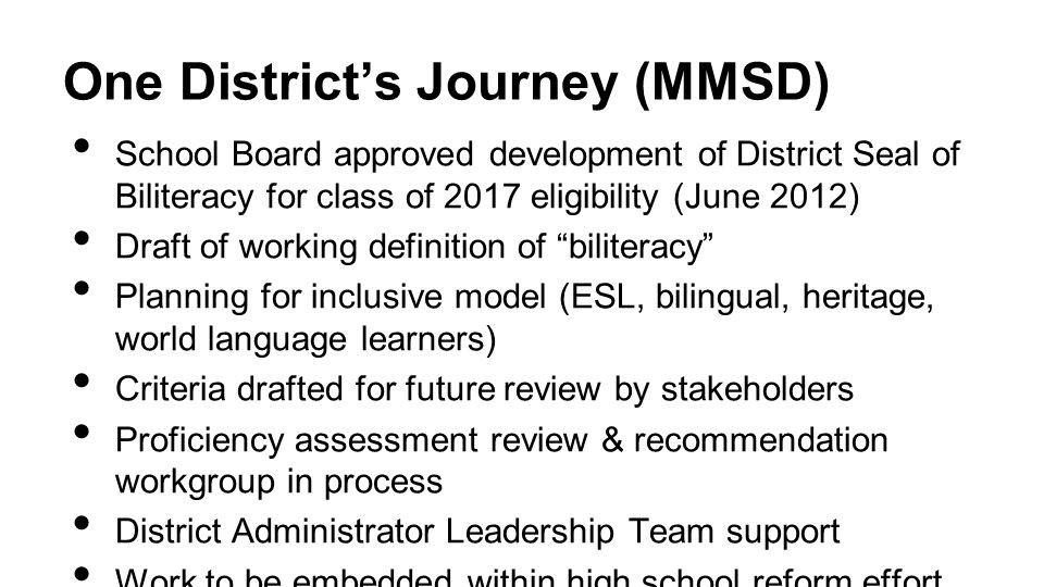 One District's Journey (MMSD)