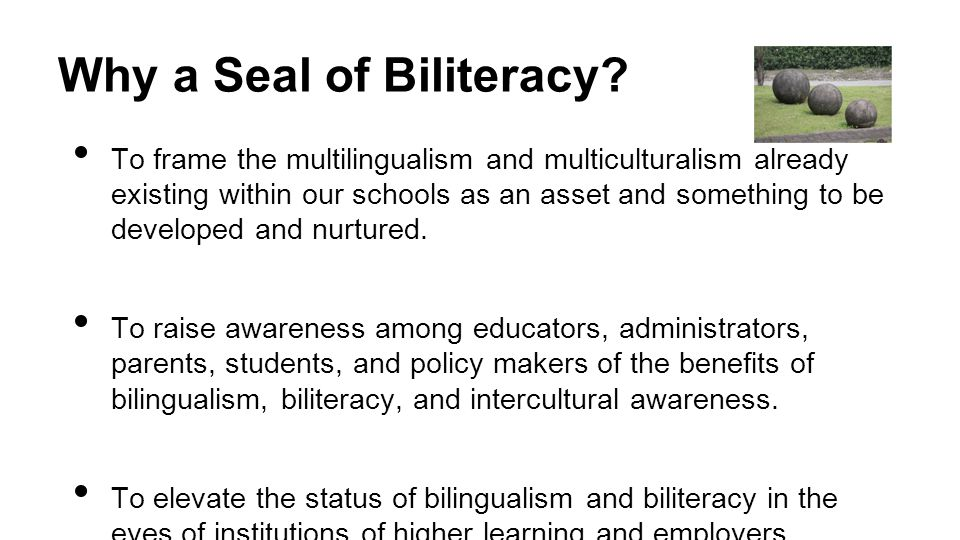 Why a Seal of Biliteracy