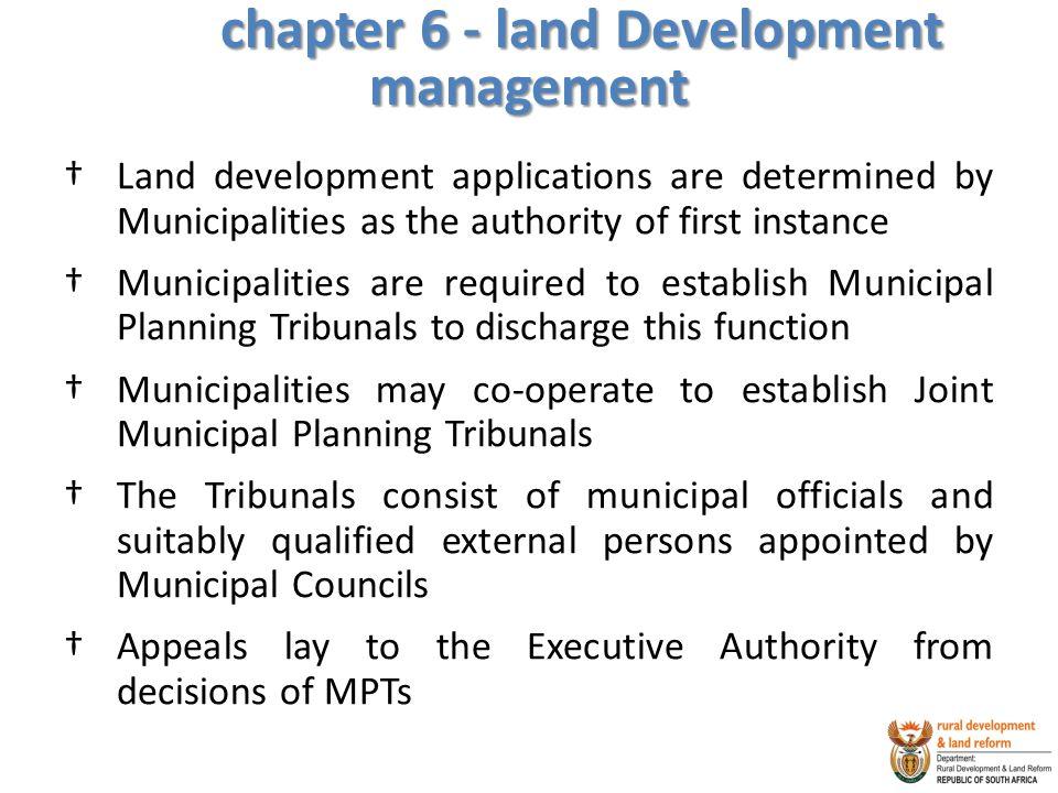 chapter 6 - land Development management