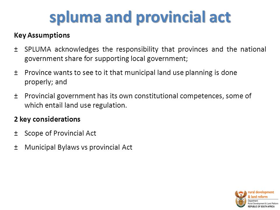 spluma and provincial act