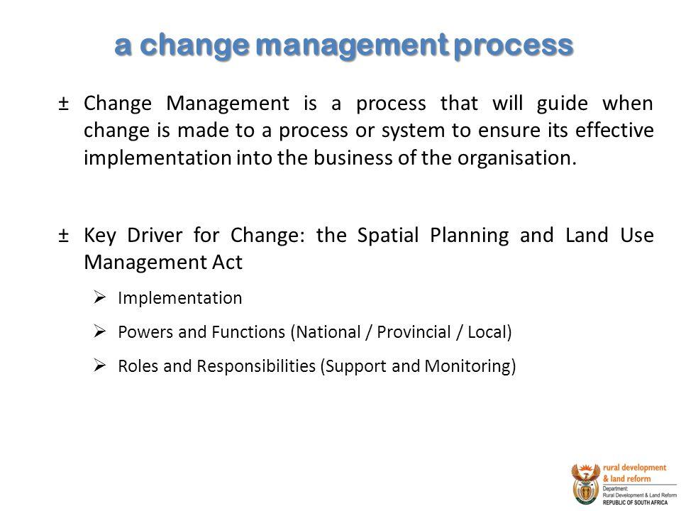 a change management process