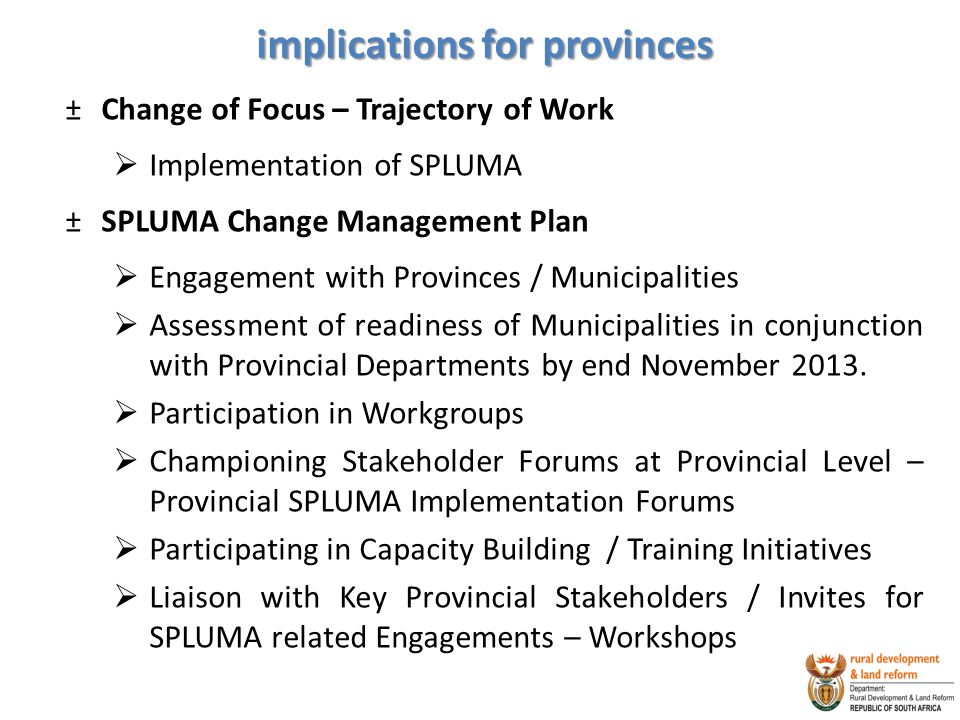implications for provinces