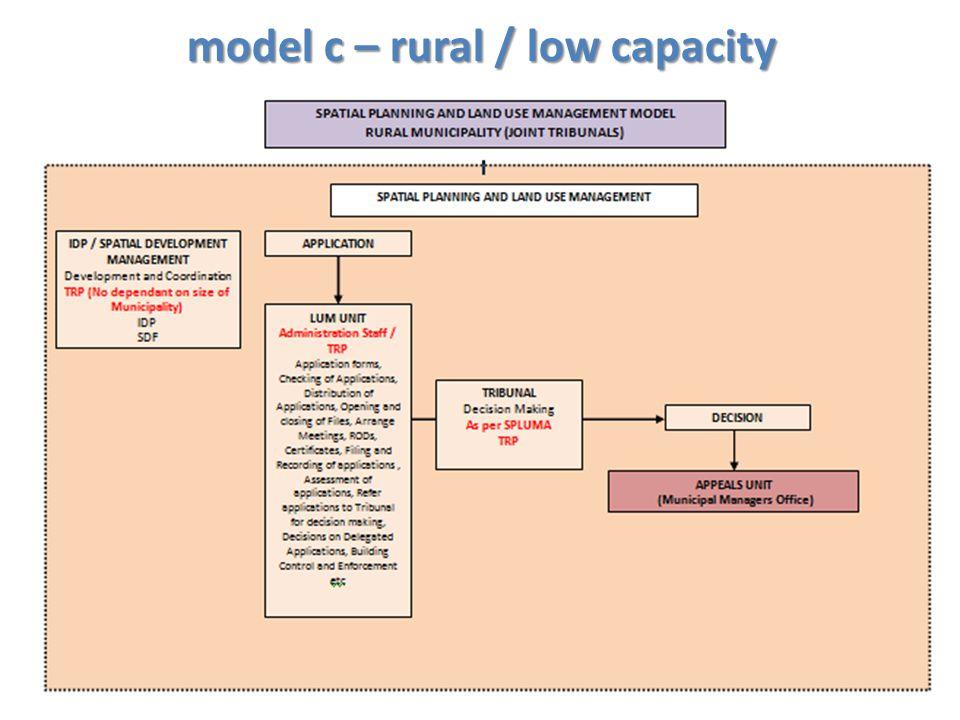 model c – rural / low capacity