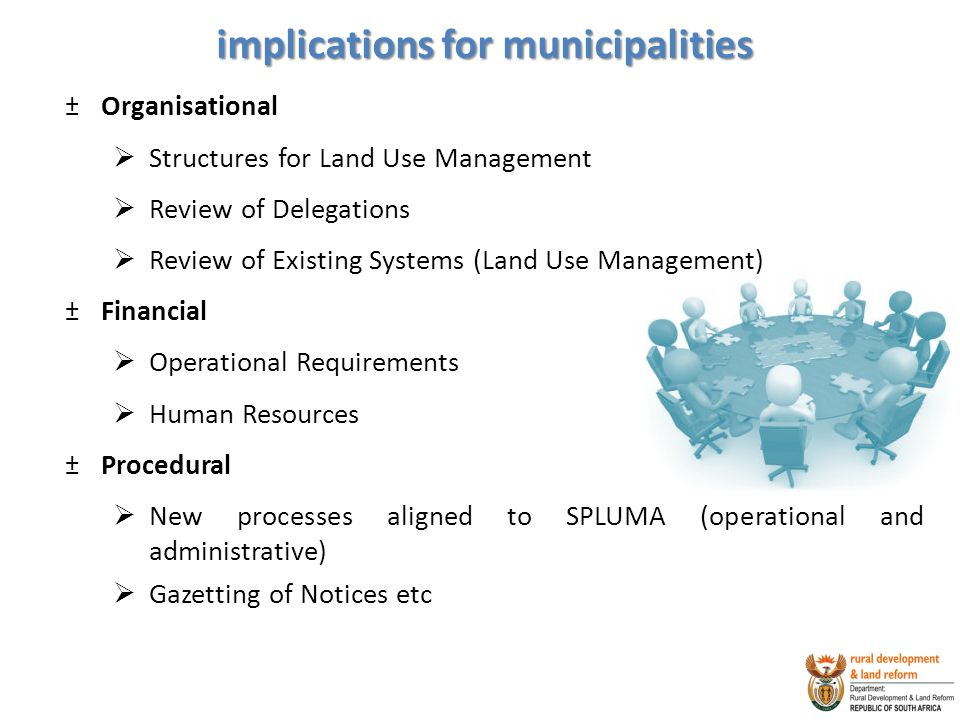 implications for municipalities
